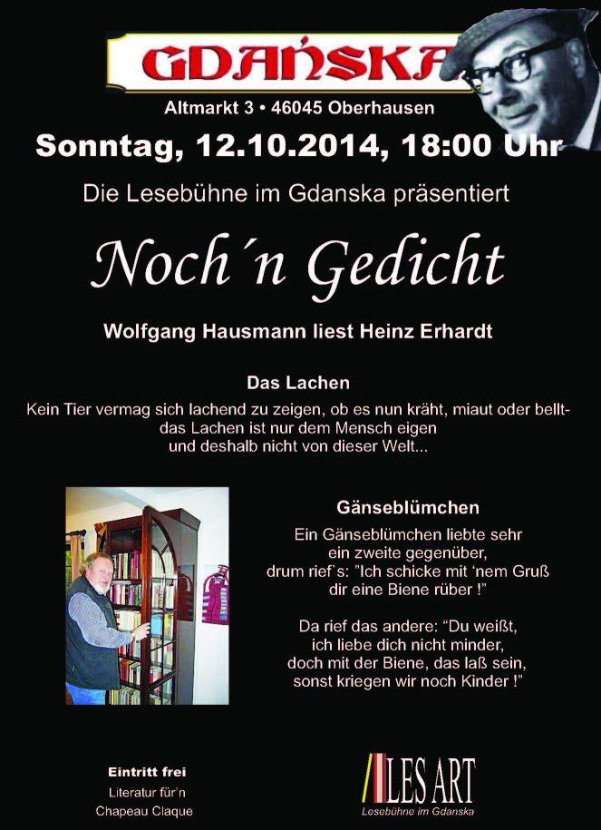 12.10.2014 Plakat Wolfgang Hausmann