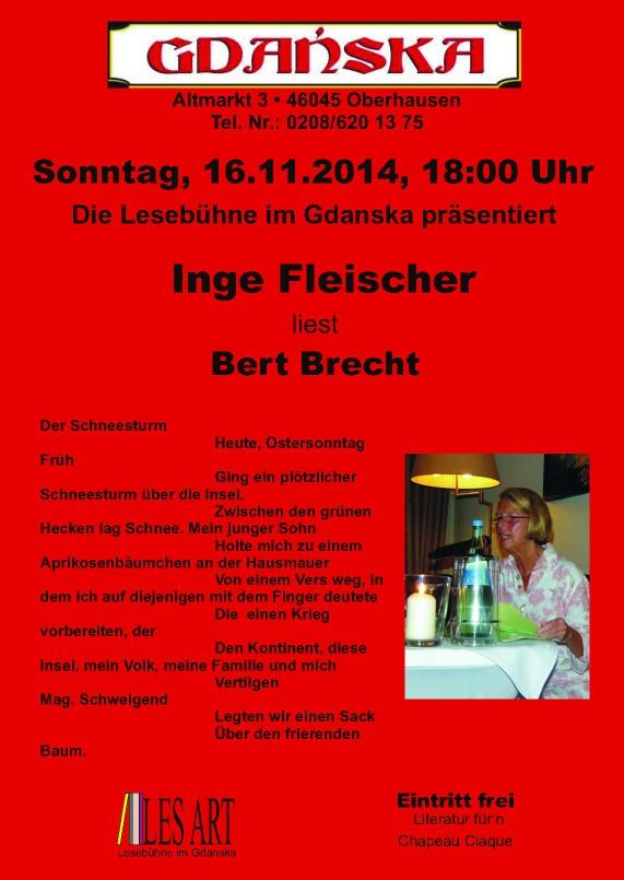 16.11.2014  Lyrik von B.Brecht