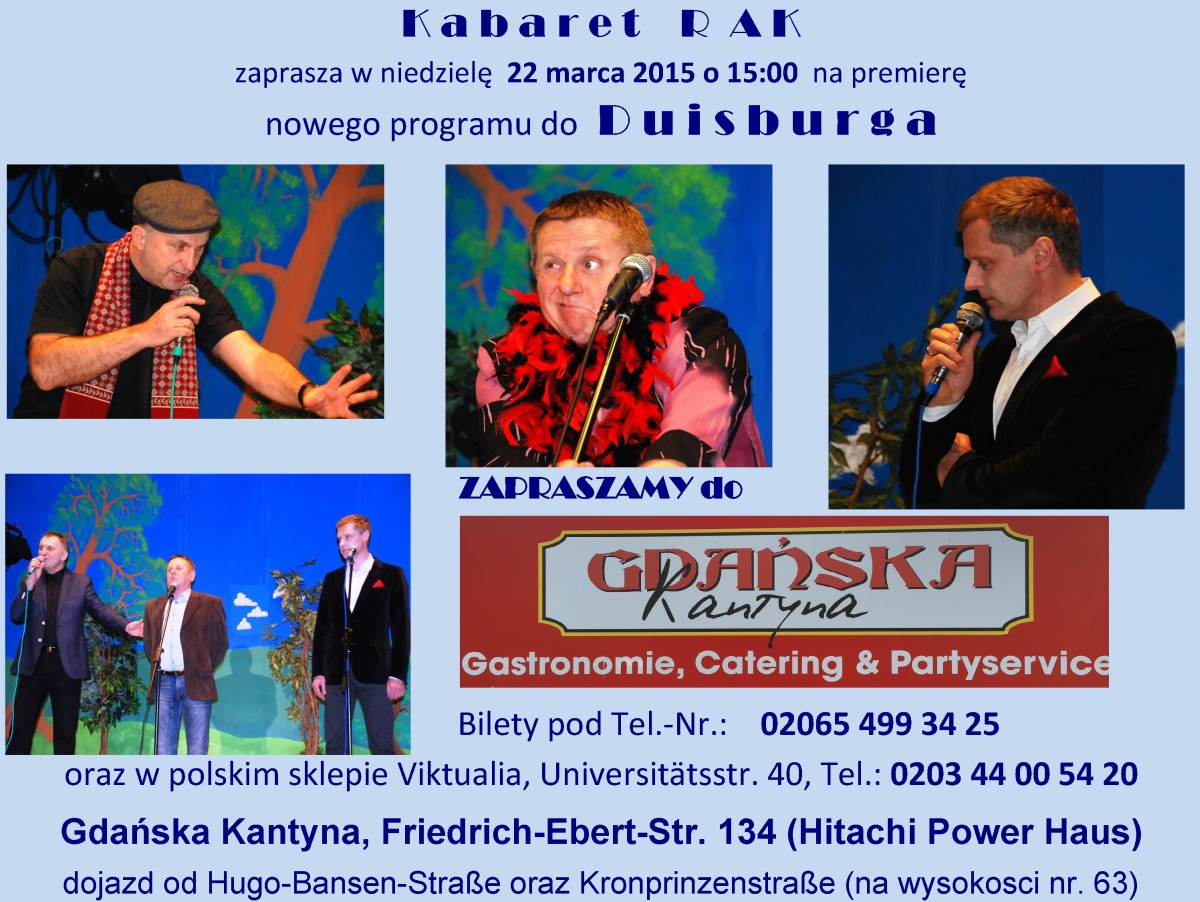 Kabaret RAK – 22.03.2015 – Gdanska Kantyna