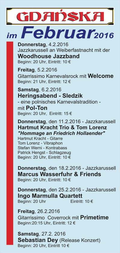 Veranstaltungen Februar 2016
