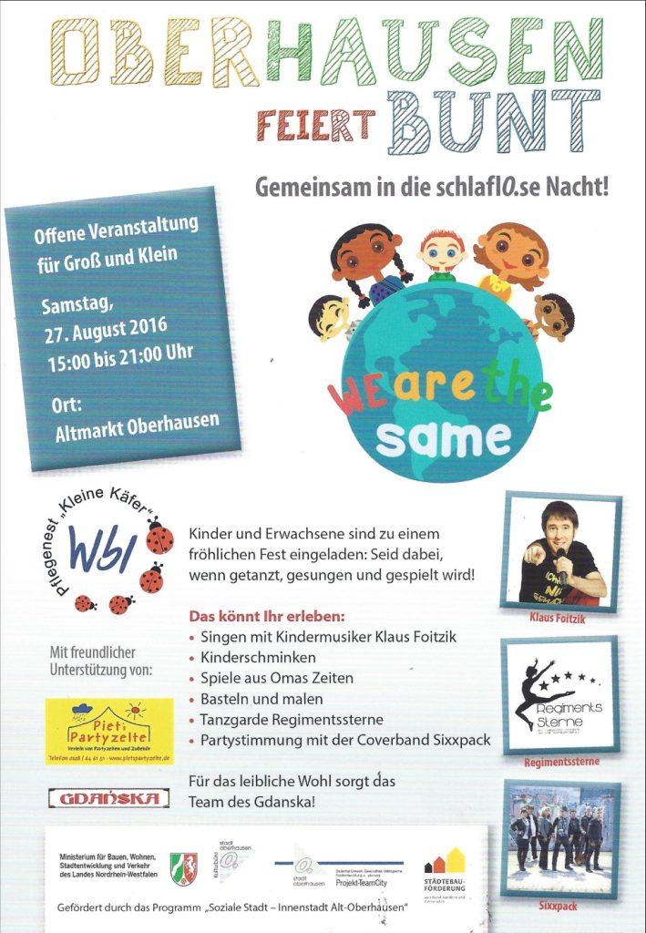 Oberhausen feiert Bunt 2016