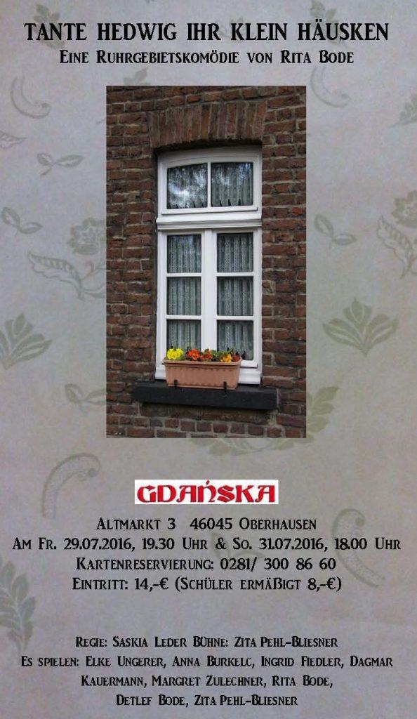Tante Hedwig Plakat Gdanska