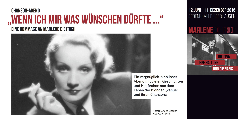 20.09.2016 – Chanson Abend – Eine Hommage an Marlene Dietrich | Gdanska