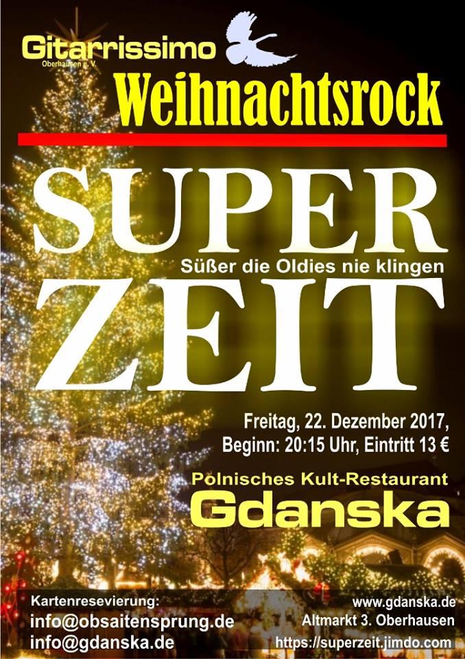 22.12.2017 – Gitarrissimo 656 – Weihnachtsrock – Superzeit   Gdanska
