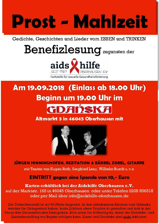 19.09.2018 – Prost Mahlzeit – Benefizlesung zugunsten der aids hilfe ...