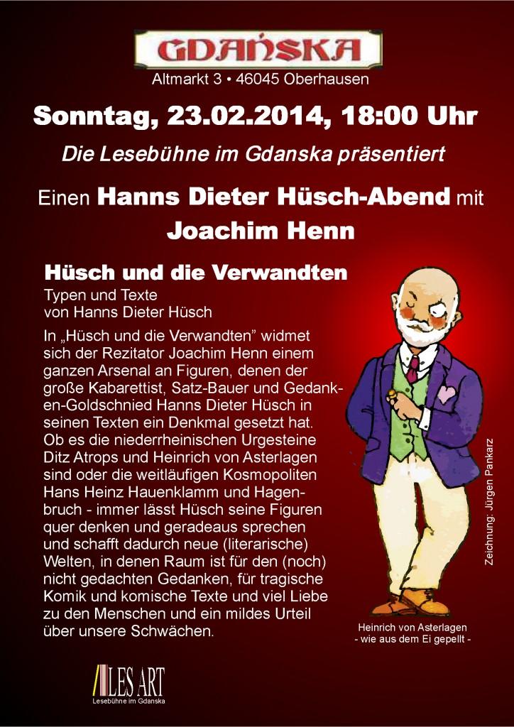 Lesung Hanns Dieter Huesch