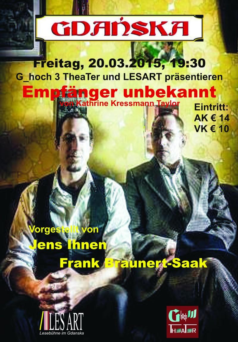 Plakat buchBEhandlung20.03.2015